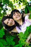 Deux visages des soeurs Images libres de droits