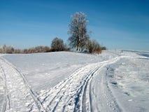 Deux voies de l'hiver Photographie stock libre de droits