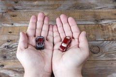 Deux voitures miniatures Photographie stock libre de droits