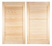 Deux volets en bois non peints images stock
