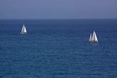 Deux yachts Photo libre de droits
