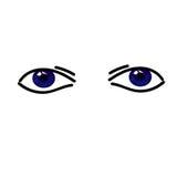 Deux yeux abstraits simples de bllue Photographie stock libre de droits