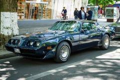 Deuxième génération du transport AM de Pontiac Firebird Turbo de voiture de muscle Images libres de droits