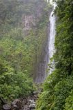 `Deuxieme Chute du Carbet` - second Carbet waterfall in Guadeloupe, Caribbean Stock Photo