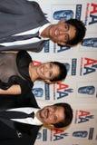 Dev Patel, Anil Kapoor, Freida Pinto Στοκ Φωτογραφίες