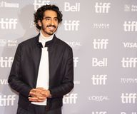 Dev Patel at movie press conference for Hotel Mumbai at TIFF2018 royalty free stock photography