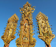 Deva or angle Statue golden triangle Thailand. Deva or angle of Hindu Statue at golden triangle in Thailand Stock Photo