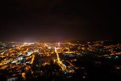 Deva City by night Royalty Free Stock Photos