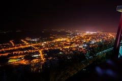 Deva City by night Stock Photos