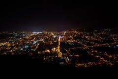 Deva City by night Stock Images