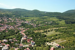 General City View of Deva. Deva is a city in Romania, in the historical region of Transylvania, on the left bank of the Mure? River. It is the capital of stock photography