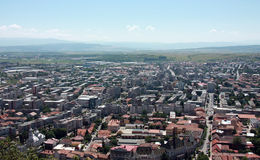 General City View of Deva. Deva is a city in Romania, in the historical region of Transylvania, on the left bank of the Mure? River. It is the capital of Royalty Free Stock Images