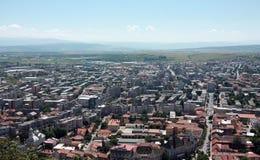 Vue générale de ville de Deva Images libres de droits