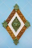 Deva figure decoration on wall Stock Image