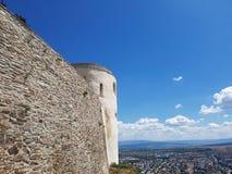 Deva forteca w Transylvania, Deva, Rumunia Obraz Royalty Free