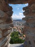 Deva forteca w Transylvania, Deva, Rumunia Zdjęcie Stock
