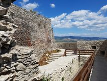 Deva Fortress en Transilvania, Deva, Rumania Fotografía de archivo