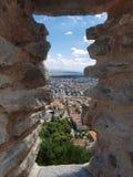 Deva Fortress en Transilvania, Deva, Rumania Foto de archivo