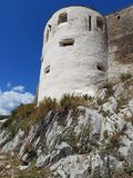 Deva Fortress en Transylvanie, Deva, Roumanie Images stock