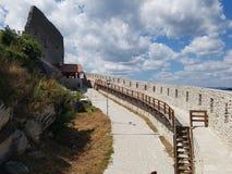 Deva Fortress en Transylvanie, Deva, Roumanie Photo stock