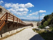 Deva Fortress en Transylvanie, Deva, Roumanie Photos stock