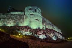 Deva Fortress medieval em Europa, Romênia fotografia de stock