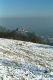 Deva fortress ruins. View from hill Stock Photos