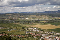 Deva-Hunedoaralandschaft Stockfoto