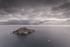 Deva Island. Is on the Asturian coast in Spain Royalty Free Stock Images