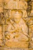Deva que cinzela, Angkor Thom, Cambodia Imagem de Stock