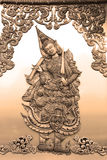 A Deva relief art work in sepia tone Royalty Free Stock Photos
