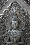 Deva silver carving. Royalty Free Stock Photos