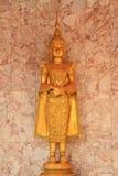Deva statue. The close up isolate golden statue of deva stock photography