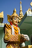 Deva statue in myanmar style molding art. At temple Royalty Free Stock Images
