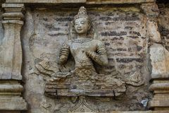 Deva on Stupa. Royalty Free Stock Images