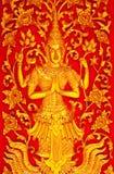 Deva in traditional Thai art Royalty Free Stock Image