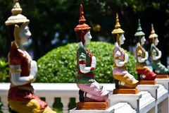 Deva in traditional Thai style decoration Royalty Free Stock Image