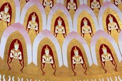 Deva väggmålning i tempel Royaltyfri Bild
