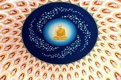 Deva väggmålning i tempel Arkivbild
