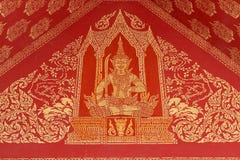 Deva väggmålning i tempel Arkivfoto
