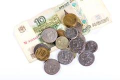 Devaluación rusa de la divisa nacional fotografía de archivo libre de regalías