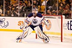 DEVAN DUBNYK  Edmonton Oilers. Edmonton Oilers goalie Devan Dubnyk #40 Stock Photo