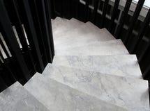 Devanadera, pasos que se curvan en plan. Imagenes de archivo