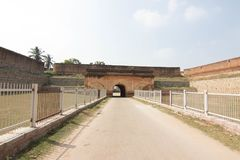 Devanahalli fort entrance at bangalore city sightseeing royalty free stock photo