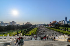 Devant la salle commémorative de Chiang Kai-shek Images stock