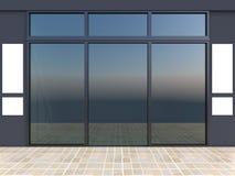 Devanture avec des fenêtres Image stock