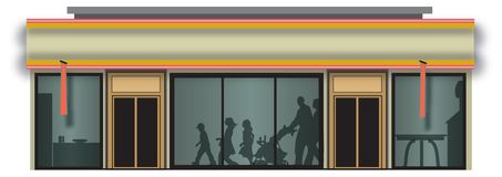 illustration de devanture de magasin d 39 picerie illustration stock image 5895256. Black Bedroom Furniture Sets. Home Design Ideas