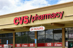 Devanture de magasin de pharmacie de CVS Photos stock