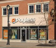 Devanture de magasin de Payless Shoesource photographie stock libre de droits