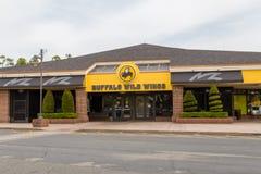 Devanture de magasin sauvage d'ailes de Buffalo photographie stock libre de droits